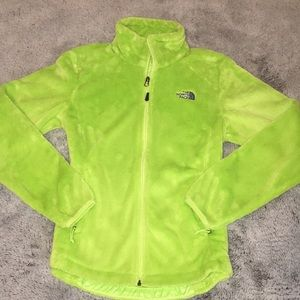 The North Face lime green jacket